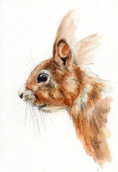 ORIGINAL Watercolour Wildlife Animal By BelindaElliottArt On Etsy