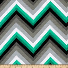 Kaufman Laguna Stretch Jersey Knit Chevron Emerald from @fabricdotcom  From Robert Kaufman, this high-quality lightweight stretch cotton jersey knit fabric features a smooth hand and 50% four-way stretch for added comfort and ease. This versatile fabric is perfect for making T-shirts, loungewear, yoga pants, and more!