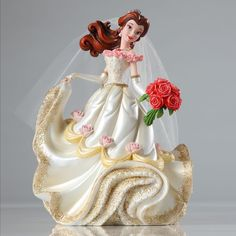 Name: Belle Introduction: June 2014 Item Number: 4045444 Dimensions: 8 x 4.5 x 6 inches Weight: 1.85 lb Reigning Disney Princesses strike a pose in this stunning NEW ensemble of highly detailed figuri