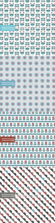 이미지투데이 꽃무늬 꽃 북유럽 패턴 디자인 일러스트 특이 추상 무늬 반복 통로이미지 tongroimages imagetoday flower shaped northern europe pattern design illust illustration unique