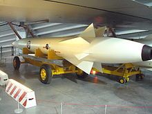 RAF Museum Cosford home to one of the surviving Skybolt missiles.