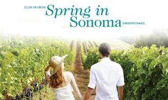 Win a weekend getaway to Sonoma, California and spending cash valued at $4,100!                                #Sweepstakes, #Getaway, #Cash, #Trip