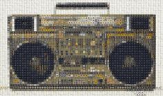'80s Electronics Turn Old Keyboards Into New Mosaics | Co.Design | business + design