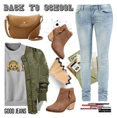 Back to School: Denim Guide by paculi on Polyvore featuring Vince Camuto, BackToSchool, bomberjacket and nastydress