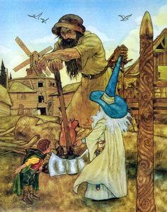 "The Hobbit. ""Gandalf introduces Bilbo to Beorn. Beorn Hobbit, Hobbit Art, O Hobbit, Jrr Tolkien, Tolkien Books, Gandalf, Legolas, Children's Book Illustration, Illustrations"