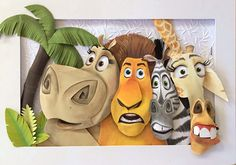Madagascar Paper Sculpture on Behance