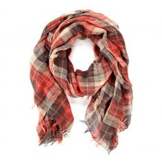 Plaid Scarf  - Red