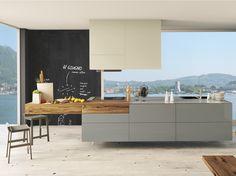 Cuisine laquée avec îlot 36E8 WILDWOOD Collection 36e8 by Lago | design Daniele Lago