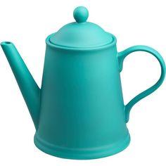 CB2 Wayne Teal Teapot ($25) ❤ liked on Polyvore
