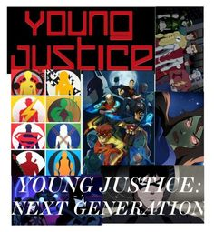 """""""BATTLE GROUP SHOUTOUT:// Young Justice Next Generation"""" by chandler-tiao ❤ liked on Polyvore featuring art"""