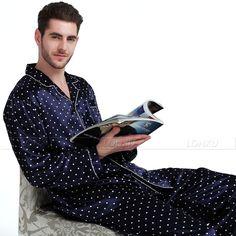 Mens Silk Satin Pajamas Set Pyjamas Set PJS Sleepwear Set Loungewear Plus Satin Pyjama Set, Satin Pajamas, Pajama Set, Boys Pajamas, Pyjamas, Mens Pjs, Men's Robes, Men Accesories, Mens Sleepwear