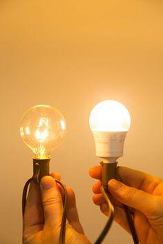 Incandescent vs. LED bulbs