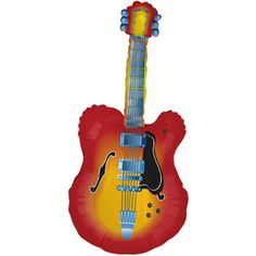 GUITAR SHAPED BALLOON Mylar Guitar Balloon, Acoustic Guitar Balloon is self sealing and refillable Add music themed confetti for a rockin' music lovers party Classic Guitar Style Qualatex Balloons, Helium Balloons, Foil Balloons, Twisting Balloons, Round Balloons, Balloon Ribbon, Balloon Bouquet, Sweatshirt Outfit, 50s Rock And Roll