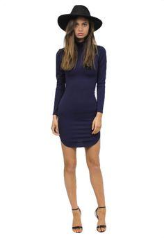 Edie Sedgwick Dress - Navy