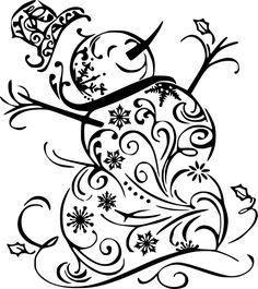 Swirly Snowman – Sawdust & Swirls S . Quilling Christmas, Christmas Stencils, Christmas Doodles, Christmas Vinyl, Christmas Drawing, Christmas Coloring Pages, Christmas Clipart, Christmas Paintings, Christmas Colors