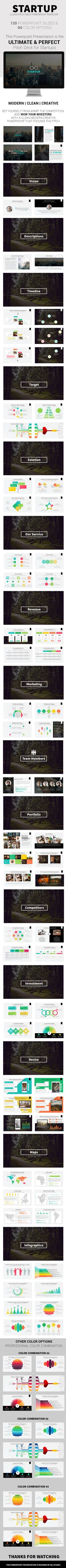Startup - Clean Pitch Deck Powerpoint Template (agency, business, business plan, charts, clean, company, competition, corporate, elevator, finance, graphs, info graphics, investment, marketing, pitch deck, powerpoint, pptx, presentation, professional, proposal, slides, start-up, startup, team, template, timeline, vision)