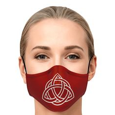 Celtic Knot Fashion Face Masks R-W Irish Celtic, Celtic Knot, Irish Design, Celtic Designs, Fashion Face Mask, Ear Loop, Face Shapes, Face Masks, Perfect Fit