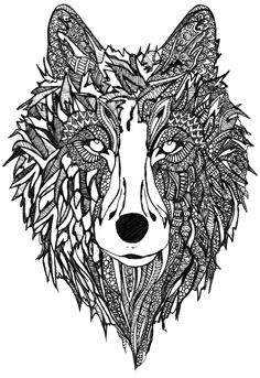 Zentangle Wolf By Alison Mayston On Sale At The Craft Loft More Information