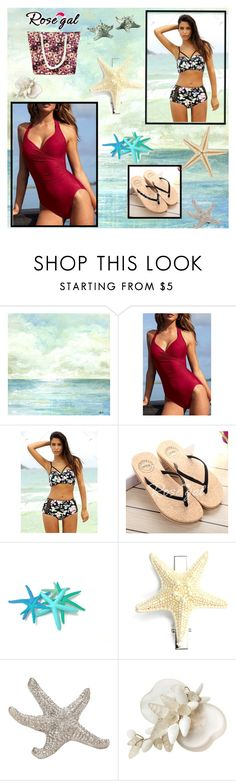 """""""rosegal summer bikini 3"""" by imsirovic-813 ❤ liked on Polyvore featuring Miriam Haskell and Vagabond House"""