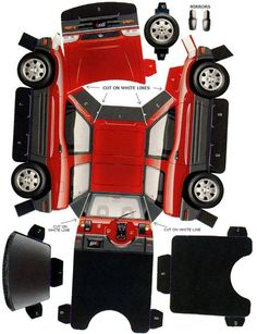 2-Door Toyota Rav4 Paper Model