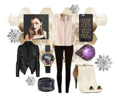 """""""Cai Turner - Oh not again!"""" by misstiny ❤ liked on Polyvore featuring Theory, River Island, Chicnova Fashion, Stephen Webster, ABS by Allen Schwartz and Olivia Burton"""