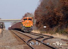 https://flic.kr/p/AXAoPg | BNSF 8578 | A tac load sits dead in the Cambridge siding waiting for a derailment in WI to be cleaned up.