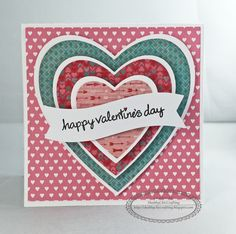 Valentine's Day card using Close to My Heart Hearstrings paper collection #ctmh #ctmhcreate #valentinesday #valentines #cardmaking #makeitfromyourheart