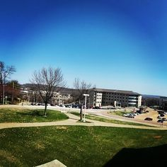 Dempster Hall is a great spot to take in these springtime blue skies! #spring #SEMO