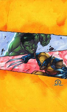 #Hulk #Fan #Art. (HULK vs WOLVERINE) By: JoeyVazquez. (THE * 5 * STÅR * ÅWARD * OF: * AW YEAH, IT'S MAJOR ÅWESOMENESS!!!™)[THANK Ü 4 PINNING!!!<·><]<©>ÅÅÅ+(OB4E)