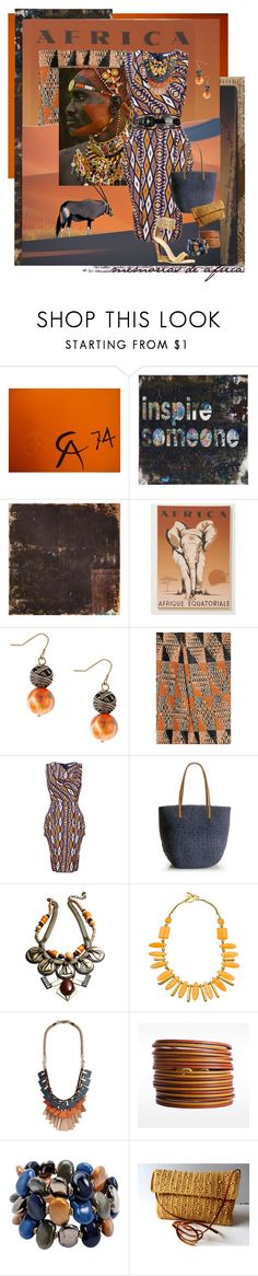 """""""Memorias De Africa"""" by halebugg ❤ liked on Polyvore featuring Calder, Out of Africa, Betty Jackson, Giambattista Valli, Antelope, Uttam Boutique, Burberry, J.Crew, DANNIJO and Daniela Swaebe"""