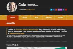 Gaiz Clean Horiozontal Scrolling WordPress Vcard #wordpress #theme #vcard