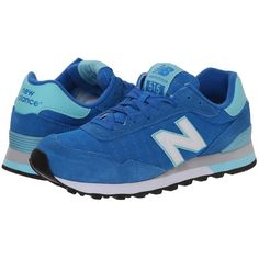 New Balance WL515 Women's Running Shoes, Blue ($52) ❤ liked on Polyvore featuring shoes, athletic shoes, blue, lace up shoes, suede lace up shoes, suede shoes, colorful running shoes and multi colored athletic shoes