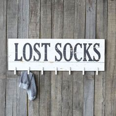 The Studios Lost Socks Clothespin Memo Board is perfect to display in your laundry room. Seven clothespins and a Lost Socks message make this memo. Décoration Harry Potter, Lost Socks, Laundry Room Signs, Laundry Rooms, Laundry Decor, Laundry Area, Laundry Station, Laundry Closet, Decoration Christmas