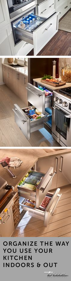 With over cubic feet of storage space, refrigerator drawers are the ideal addition to your indoor or outdoor space. With over cubic feet of storage space, refrigerator drawers are the ideal addition to your indoor or outdoor space. Interior Design Degree, Architectural Digest, Home Interior, Interior Ideas, Kitchen Storage, Home Kitchens, Tiny House, Home Remodeling, Kitchen Remodel