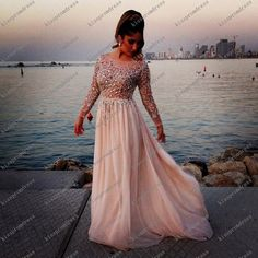 long Prom Dress/ Long Beaded Prom Dresses/Long by kisspromdress, $183.00