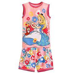 693222c02491 Alice in Wonderland and Dinah Pajama Set for Girls Boys Pjs