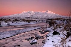 Amazing Mt Ruapehu Sunrise - North Island, New Zealand ~ New Zealand Holidays, Sunrise Pictures, Beautiful Sunrise, Adventure Tours, Planning Board, Trip Planning, Heaven On Earth, Urban Landscape, Oh The Places You'll Go