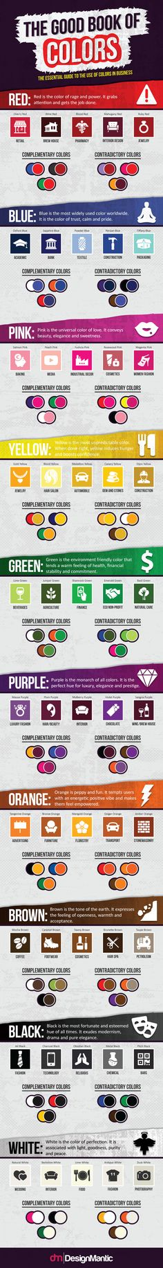 The Good Book Of Colors: The Essential Guide For Business! #infographic http://bit.ly/2mvUxoF