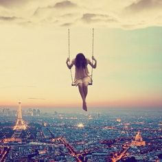 It's like a dream sequence... Me swinging over Paris!