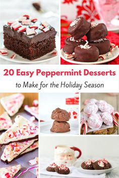 20 Easy Peppermint Dessert Recipes to Make for the Holiday Season