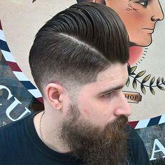 Badass pompadour for our colleague @chebuch from #moscow ! #barber #barberlife #popup #barbershop #prague #czechrepublic #russia #connection #pompadour #pomade #reuzel #reuzelpomade #fade #beard #beardisreal #class #onlyclassicnoshit #theaddressidea
