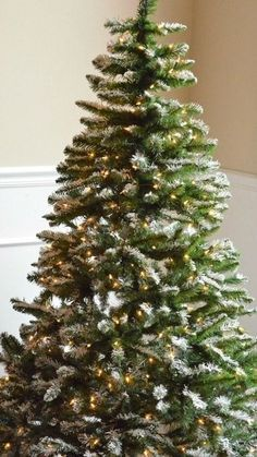 """Today I'm showing you how to give an artificial tree that flocked, snowy look in no time. I love this technique because you can control how """"snowy"""" you want your tree to be simply by adding a little bit..."""