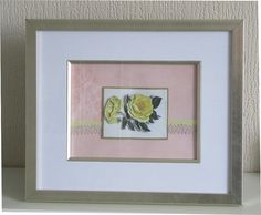 hand crafted by hazel - yellow rose paper art  More pictures at https://www.etsy.com/uk/shop/HazelsPerfectPicture