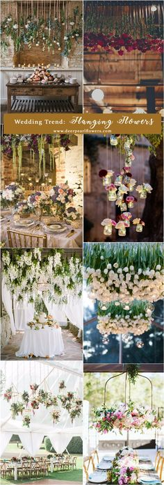 wedding trend: hanging flowers