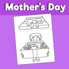 Surprise Box for Mother& Day - Paper Craft – 10 Minutes of Quality Time - Diy Mother's Day Crafts, Frog Crafts, Mother's Day Diy, Paper Crafts, Mother's Day Printables, Printable Crafts, Mothers Day Crafts For Kids, Crafts For Girls, Egypt Crafts