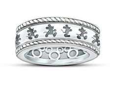 Mickey Mouse Sterling Silver Spinning Ring #DisneyJewelry