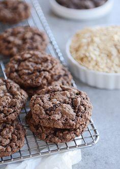 Double Chocolate Oatmeal Chocolate Chip CookiesReally nice  Mein Blog: Alles rund um die Themen Genuss & Geschmack  Kochen Backen Braten Vorspeisen Hauptgerichte und Desserts # Hashtag