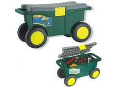 Deluxe Rolling Garden Seat with Easy Change Turnbars Yard Carts