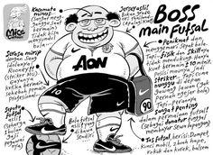 Mice Cartoon: Beginilah Kalau Boss Main Futsal (Kompas, 21.04.13)