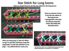"Previous pinner: ""On this page, you can find patterns for loom knitting. I hope you find these helpful in your creating! Lace Stitch Neck Wrap on a loom Visit my Ravelry shop . Loom Knitting Stitches, Spool Knitting, Knifty Knitter, Loom Knitting Projects, Knitting Loom Instructions, Loom Crochet, Lucet, Loom Craft, Star Stitch"